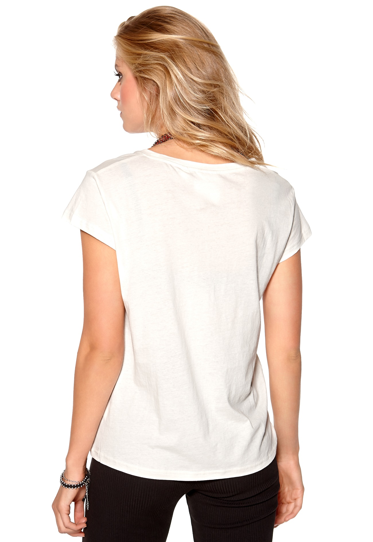 Cheap monday have tee cm double logo dirty white bubbleroom for Cheap logo