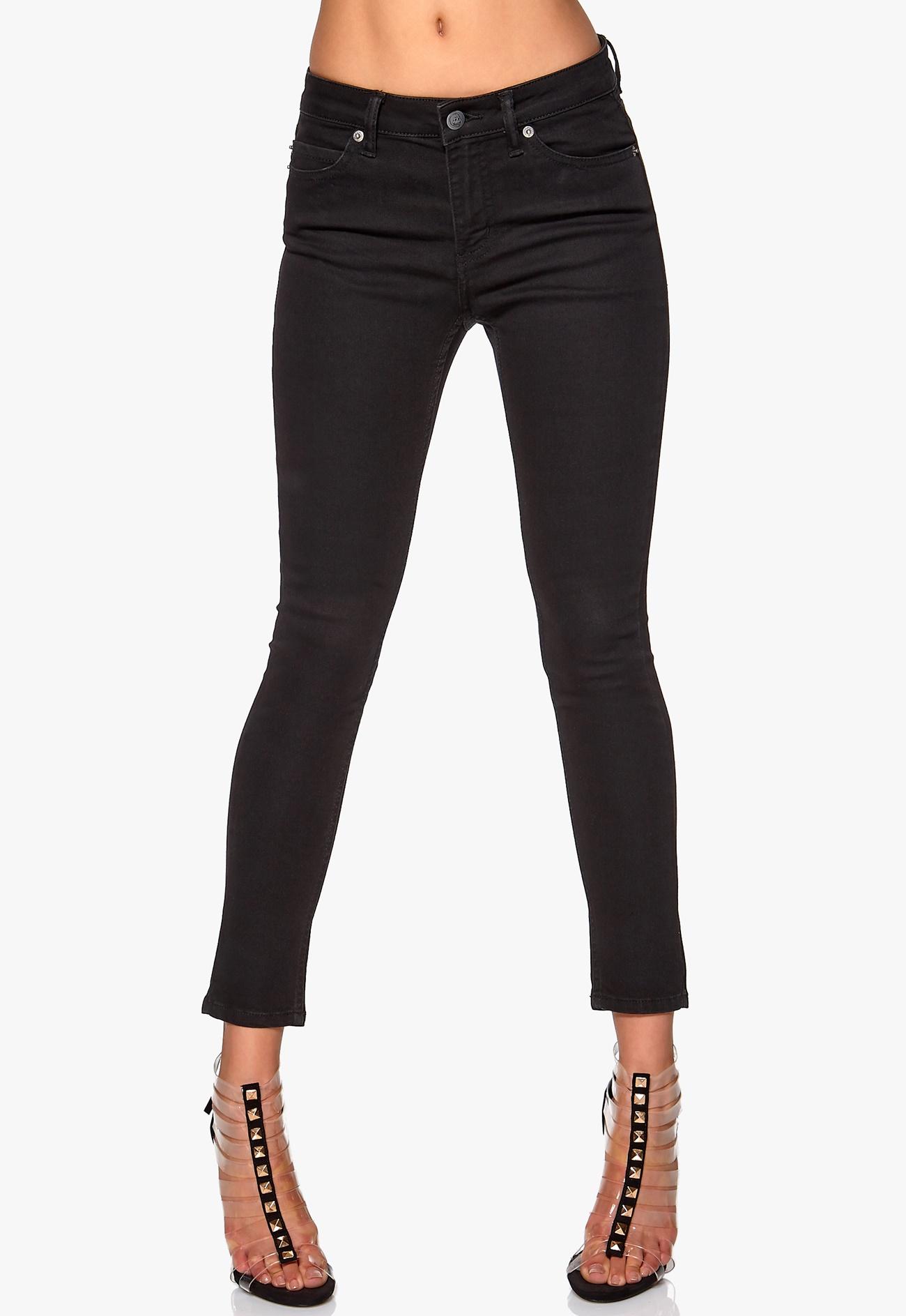 CHEAP MONDAY Prime Cropped Jeans Pitch Black - Bubbleroom
