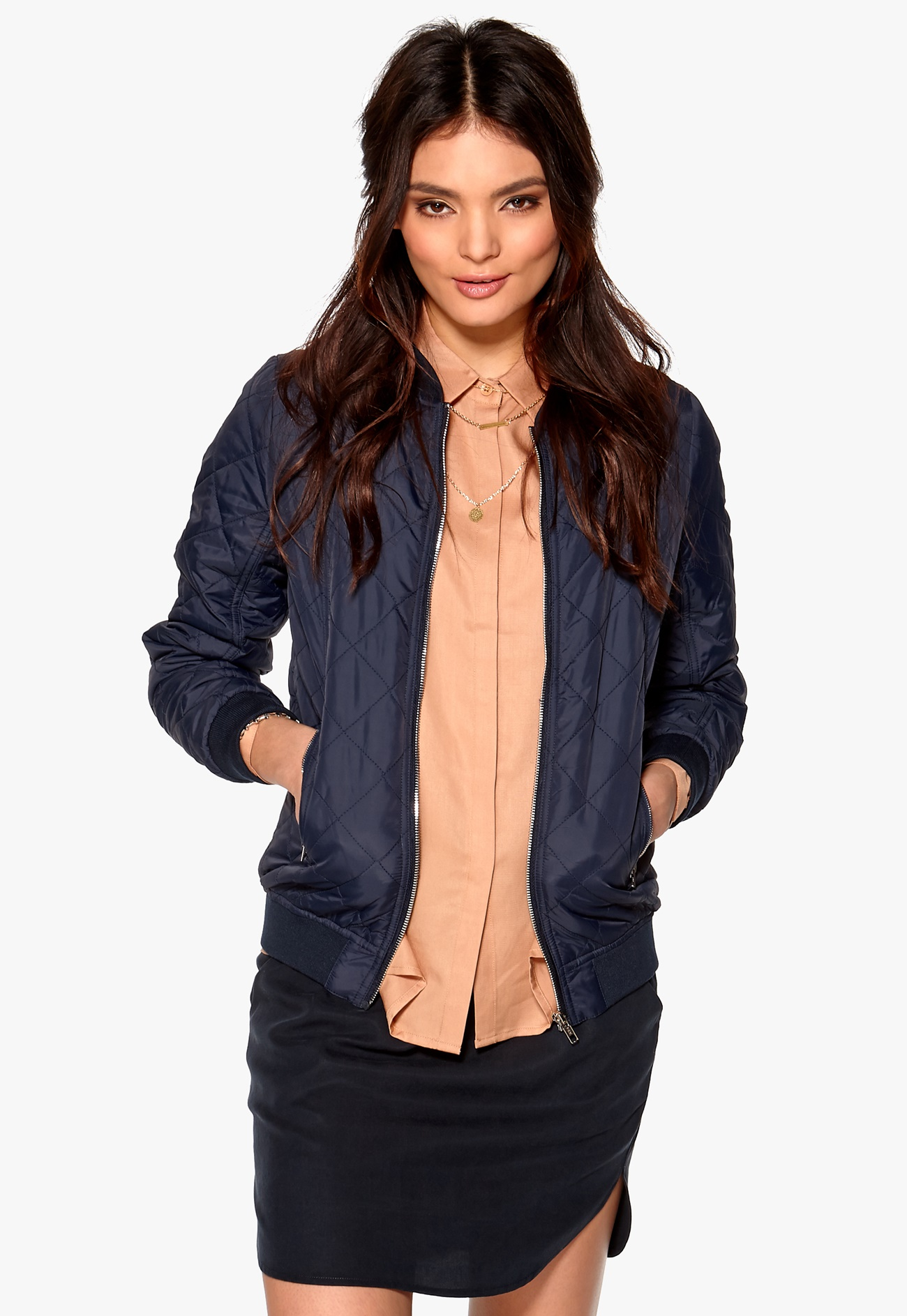 Mood Bomber Jackets: D.Brand Quilted Bomber Mood Indigo