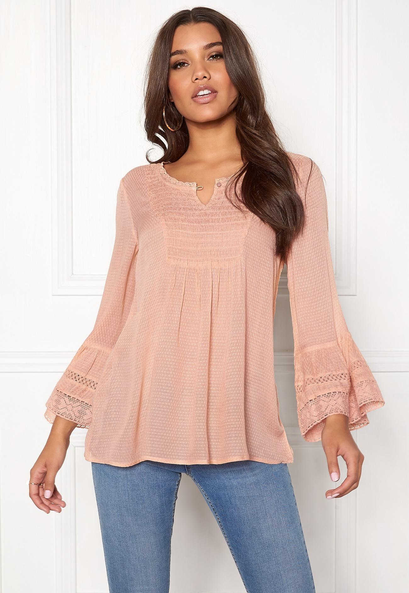 Happy Holly Kristel blouse Dusty pink - Bubbleroom