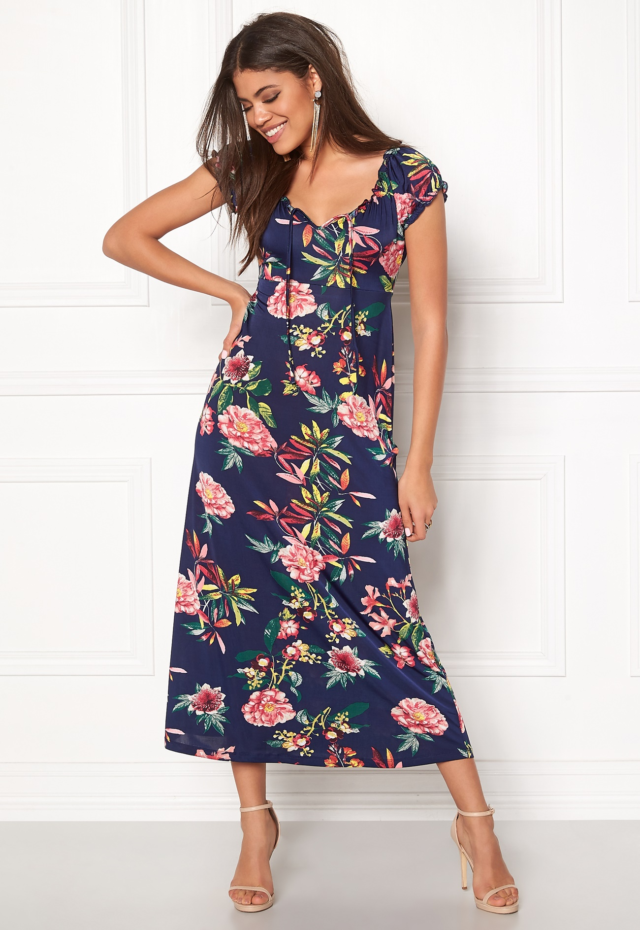 Happy Holly Tessie Maxi dress Blue / Patterned - Bubbleroom