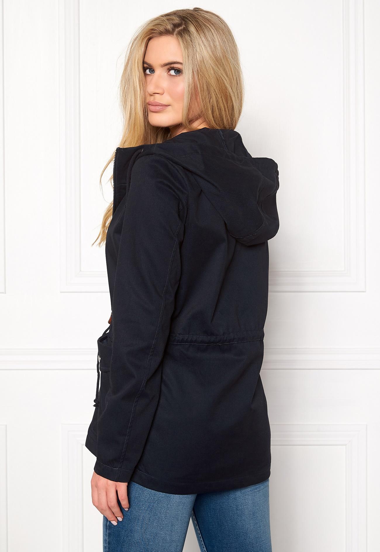 Jacqueline de Yong Mandy Short Spring Jacket Dark Navy - Bubbleroom
