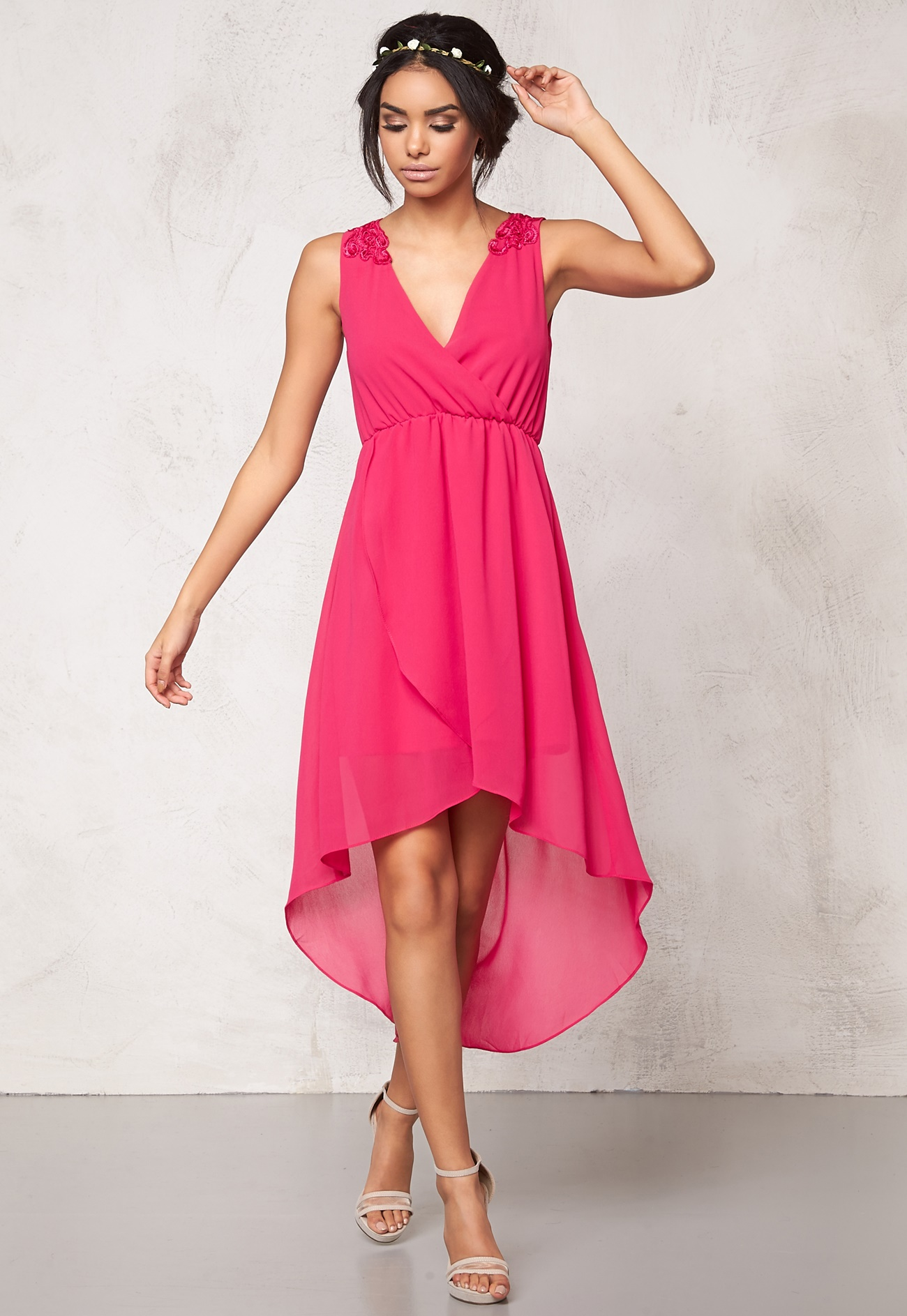 Model Behaviour Felicia Dress Dark pink - Bubbleroom
