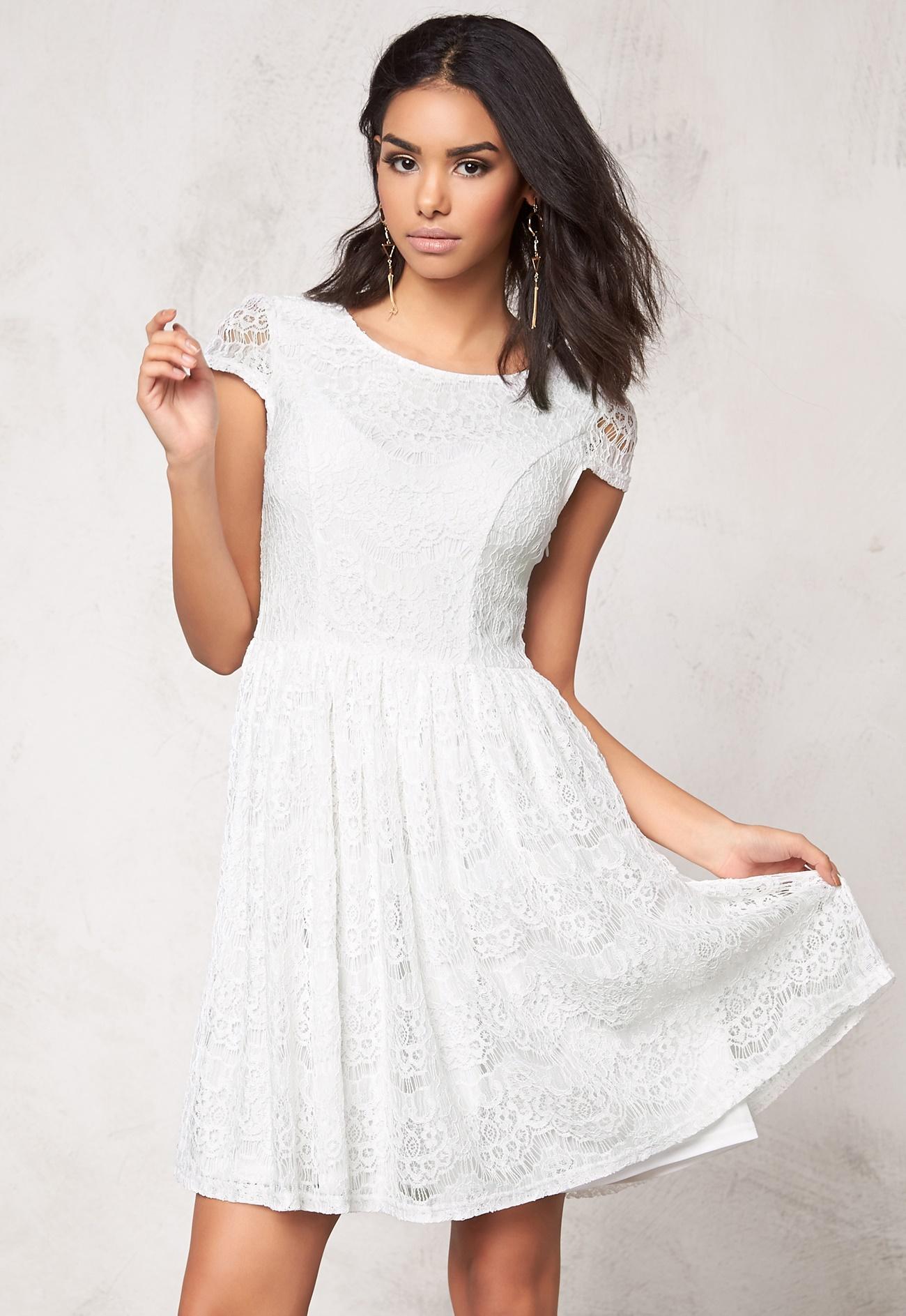 Model behaviour freja dress white bubbleroom - Modele dressing ...