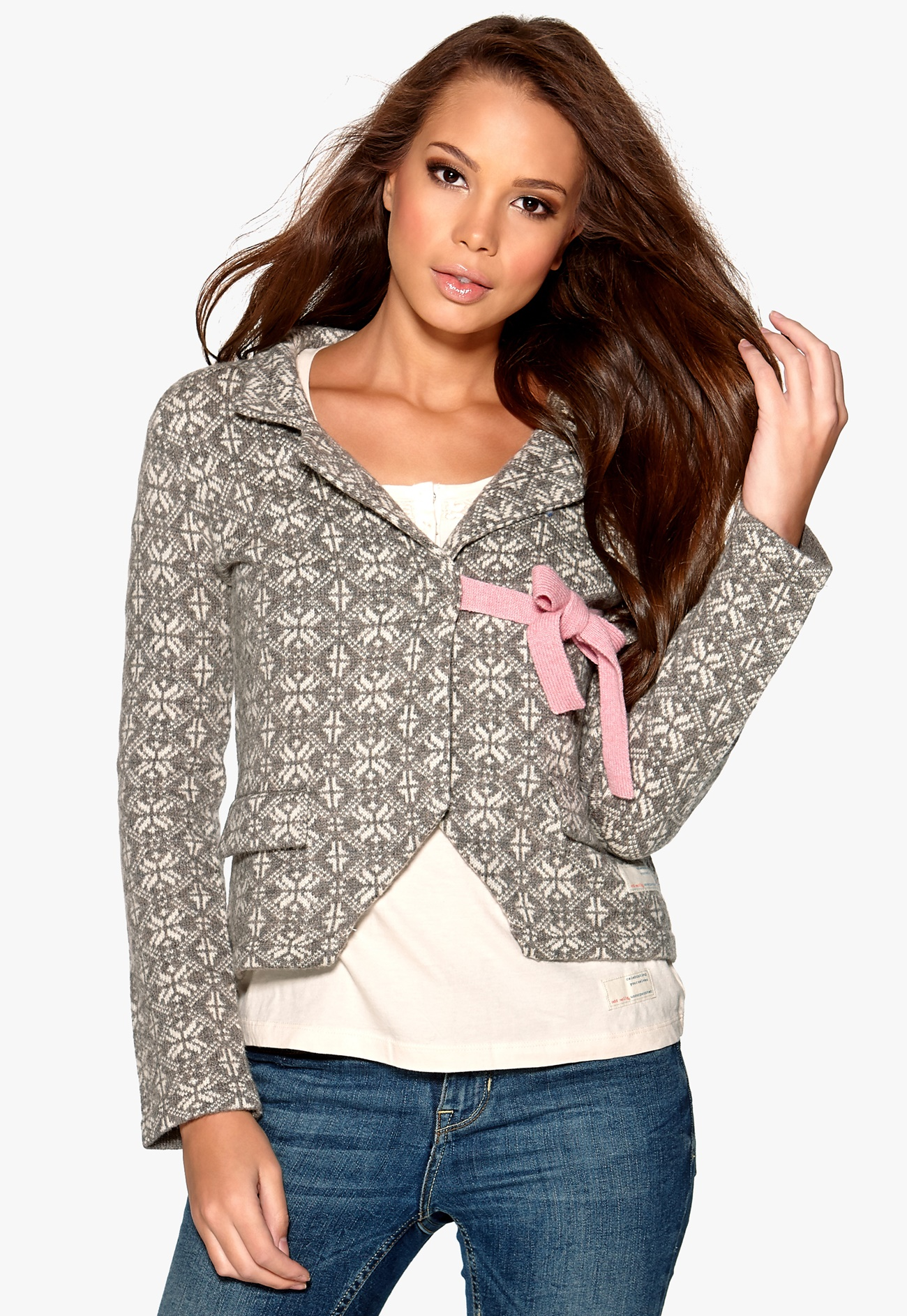 odd molly lovely knit jacket falcon bubbleroom. Black Bedroom Furniture Sets. Home Design Ideas