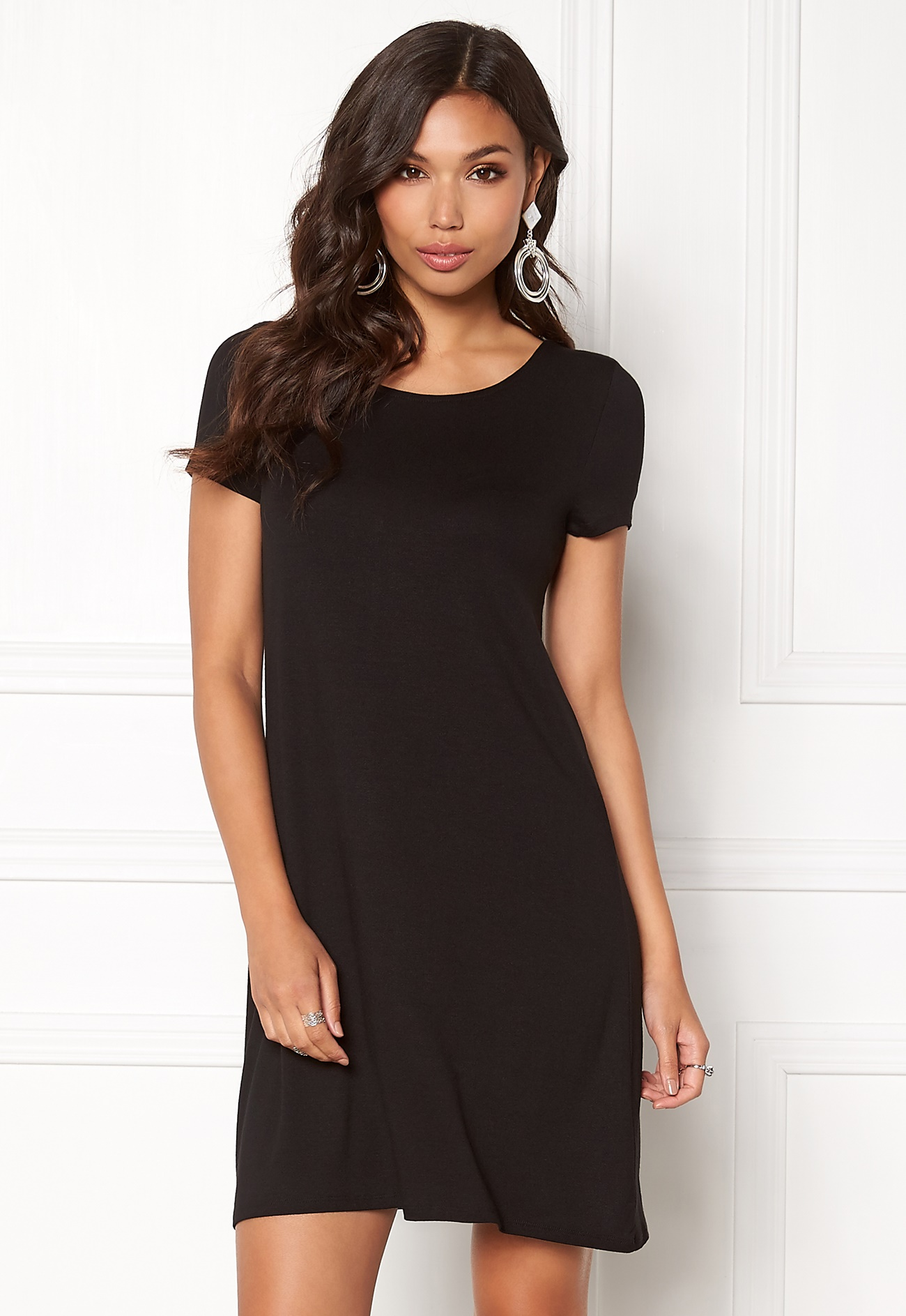 ONLY Bera Back Lace S/S Dress Black