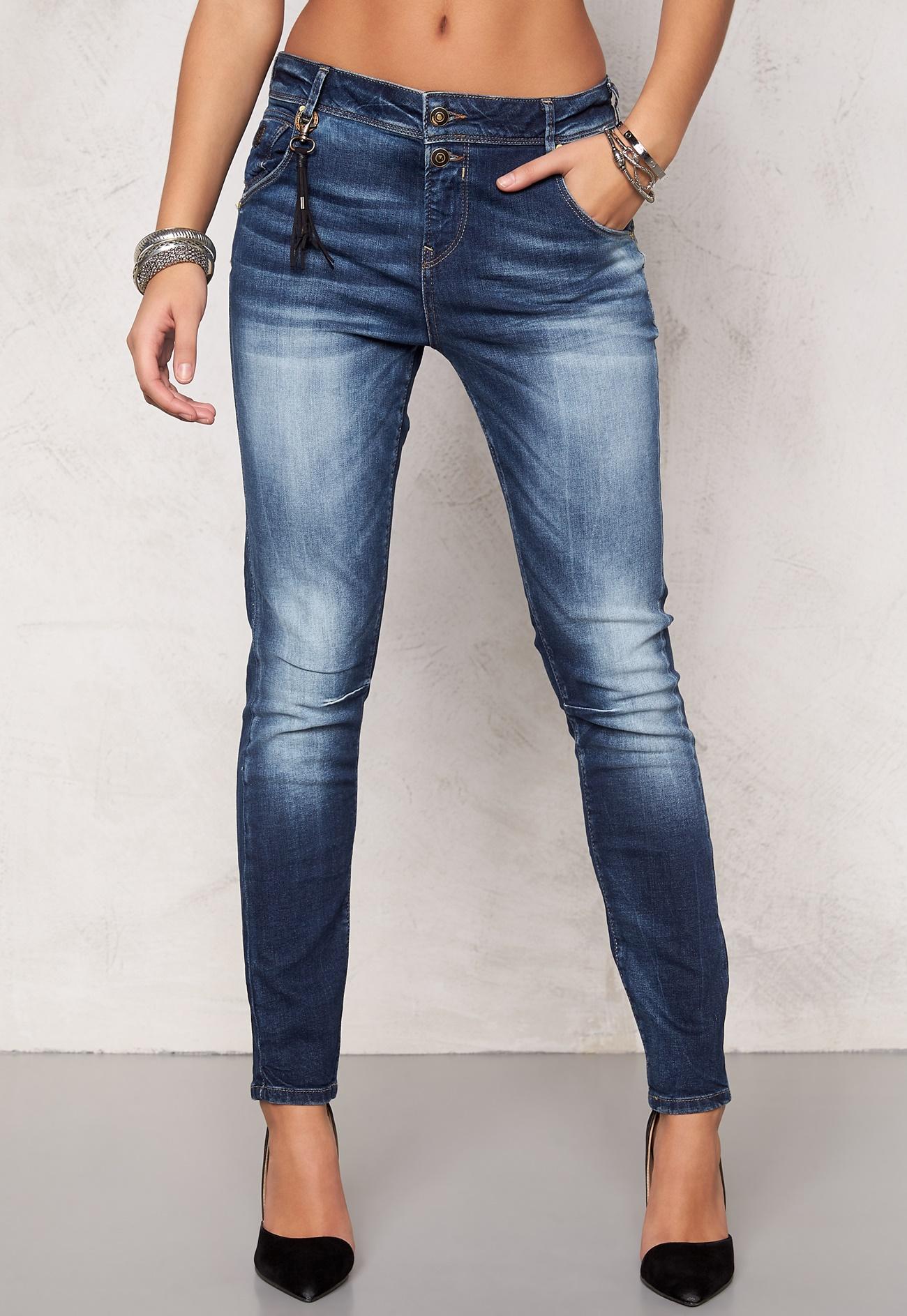 only lise antifit jeans dark blue denim bubbleroom. Black Bedroom Furniture Sets. Home Design Ideas