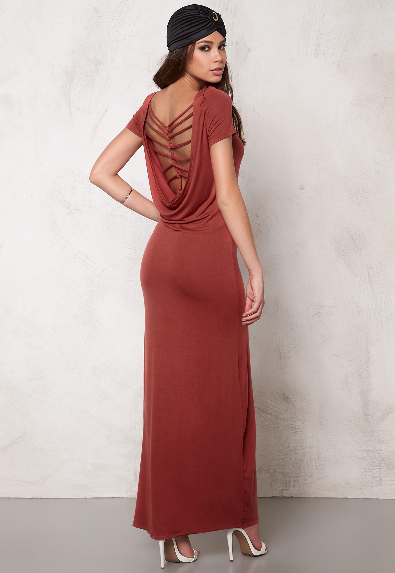 ONLY Waterfall Dress Marsala