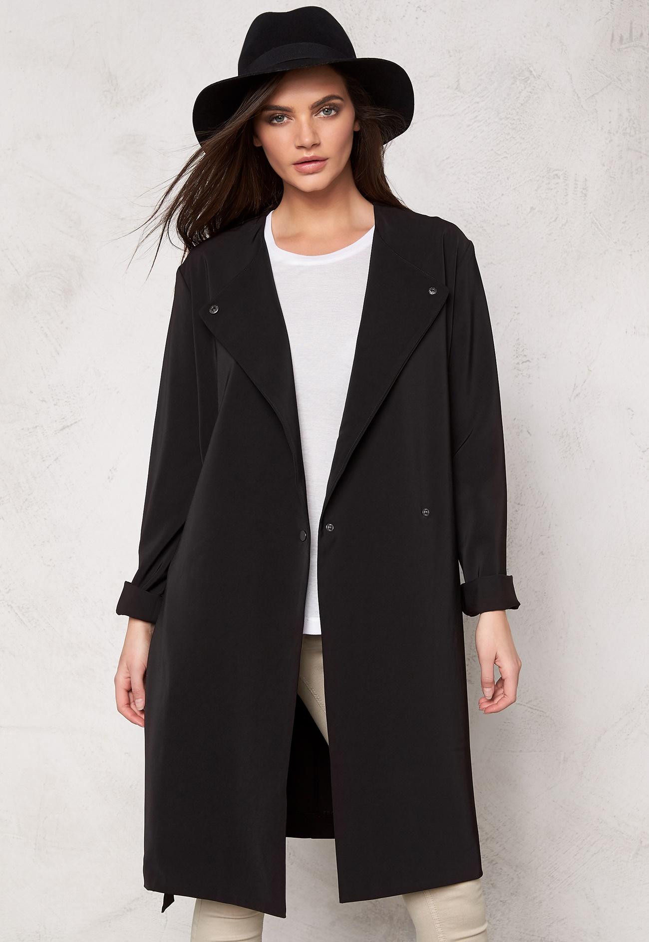 Samsøe & Samsøe Ria Long Jacket Black - Bubbleroom