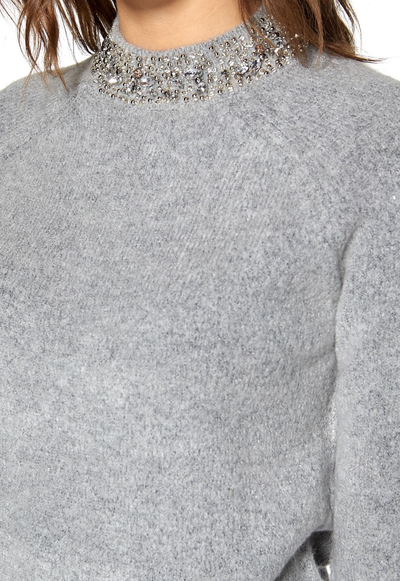 soaked in luxury sophy jumper light grey melange bubbleroom. Black Bedroom Furniture Sets. Home Design Ideas