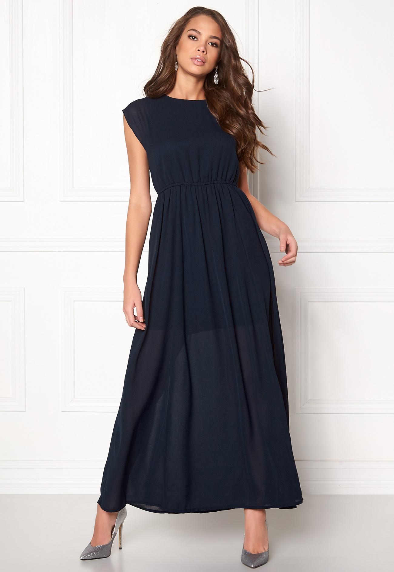 vero moda dotta wide long dress navy blazer bubbleroom. Black Bedroom Furniture Sets. Home Design Ideas