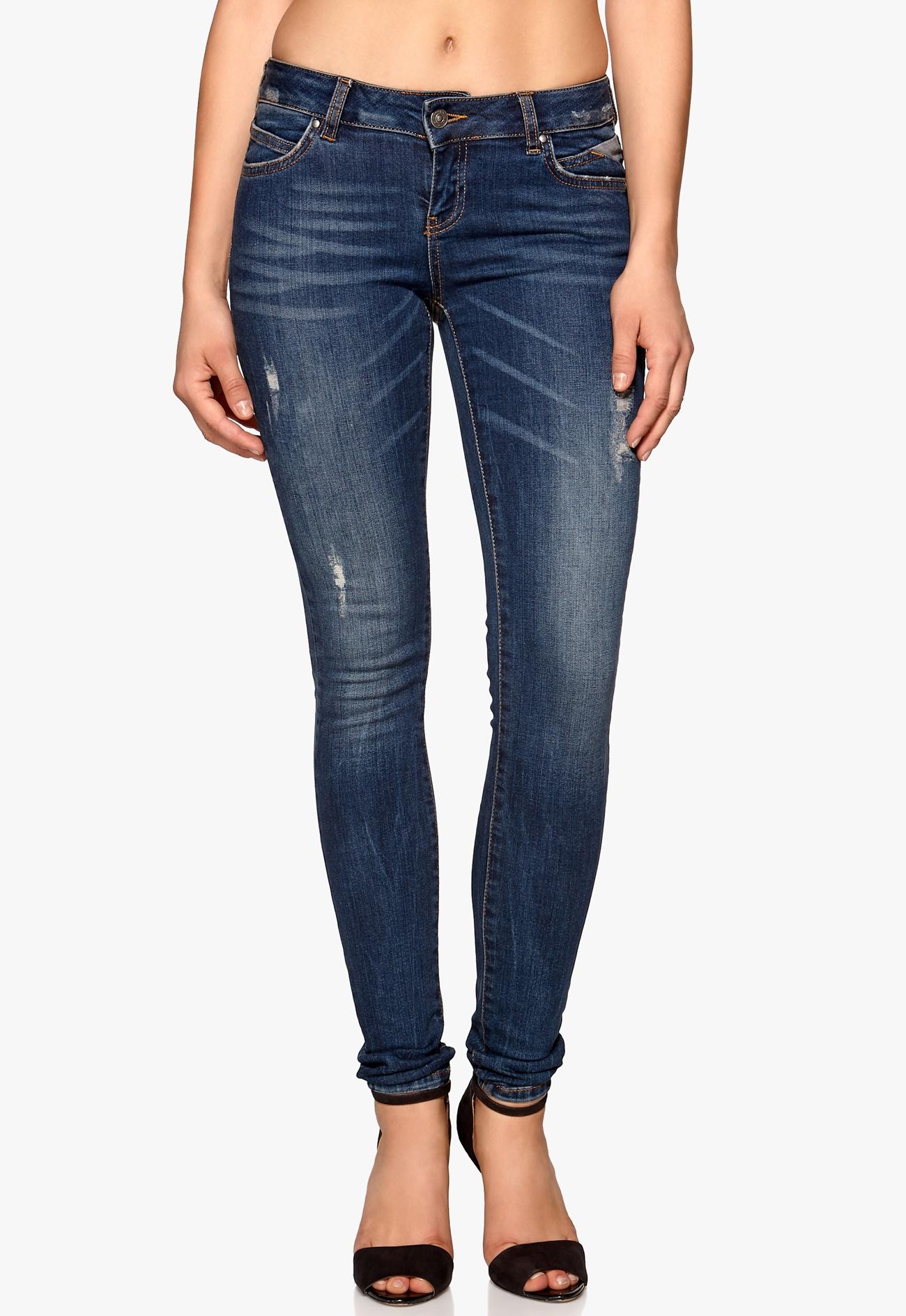 vero moda five skinny zip jeans dark blue denim bubbleroom. Black Bedroom Furniture Sets. Home Design Ideas