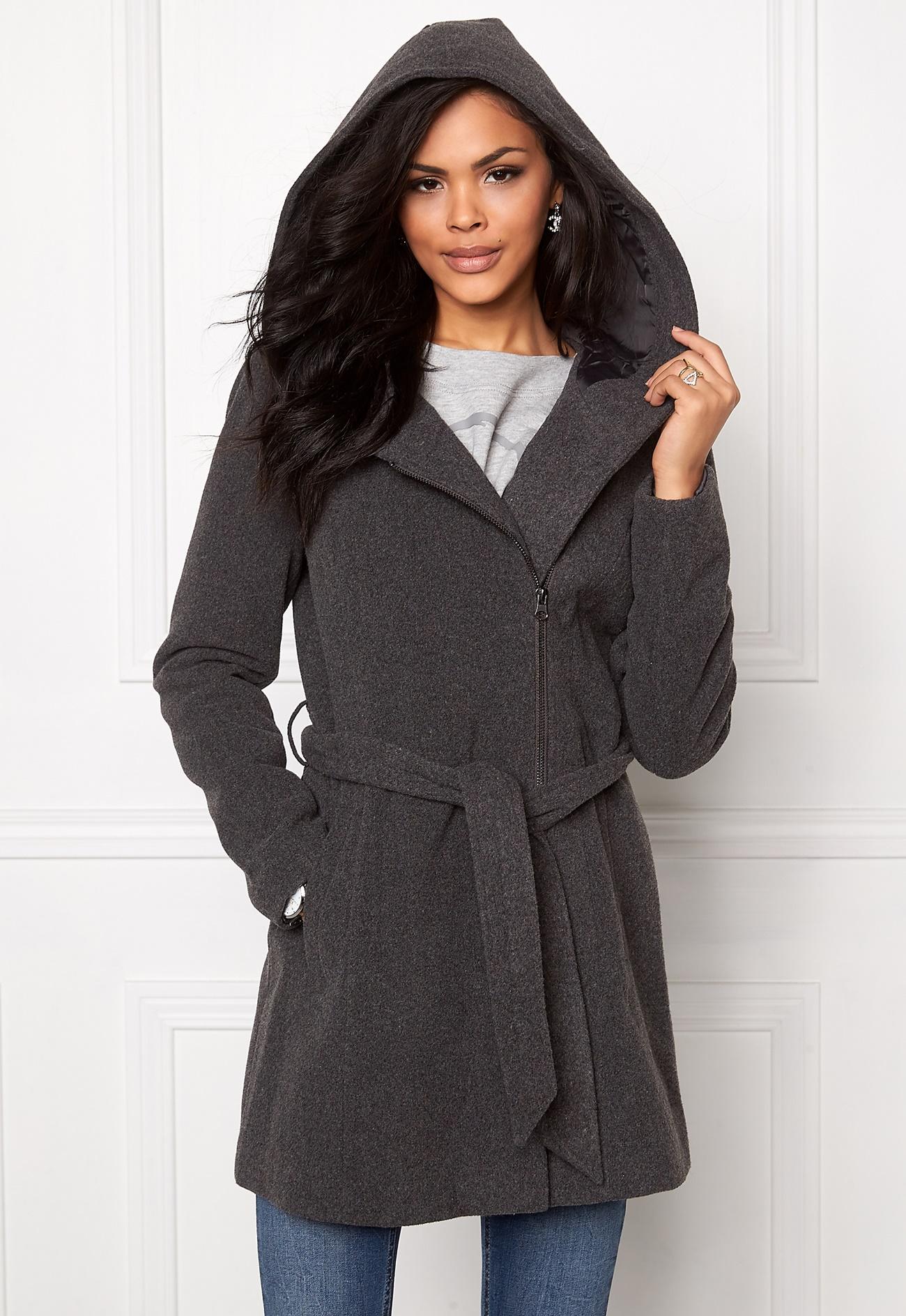 vero moda joyce daisy 3 4 jacket medium grey melange bubbleroom. Black Bedroom Furniture Sets. Home Design Ideas