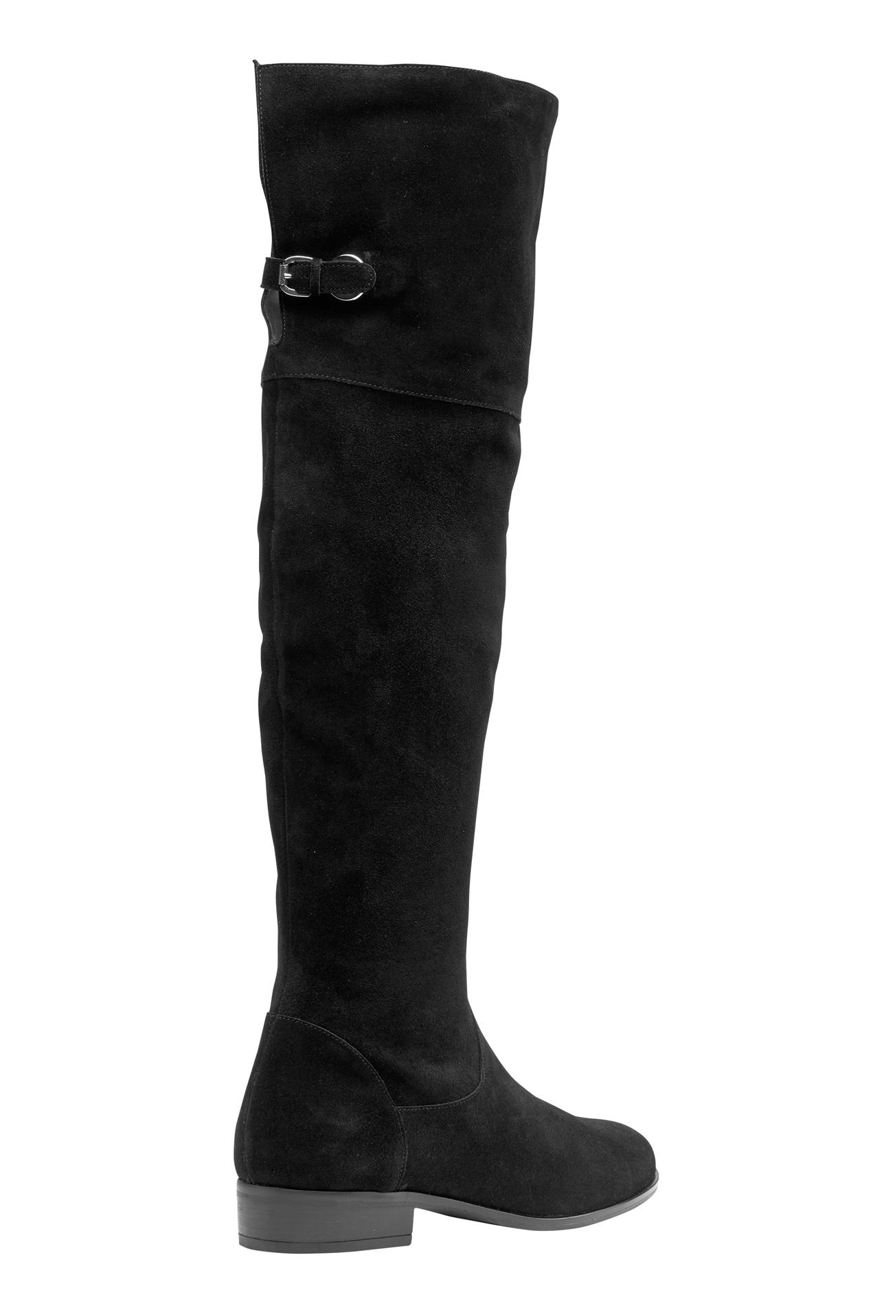 vero moda mille leather overknee black bubbleroom
