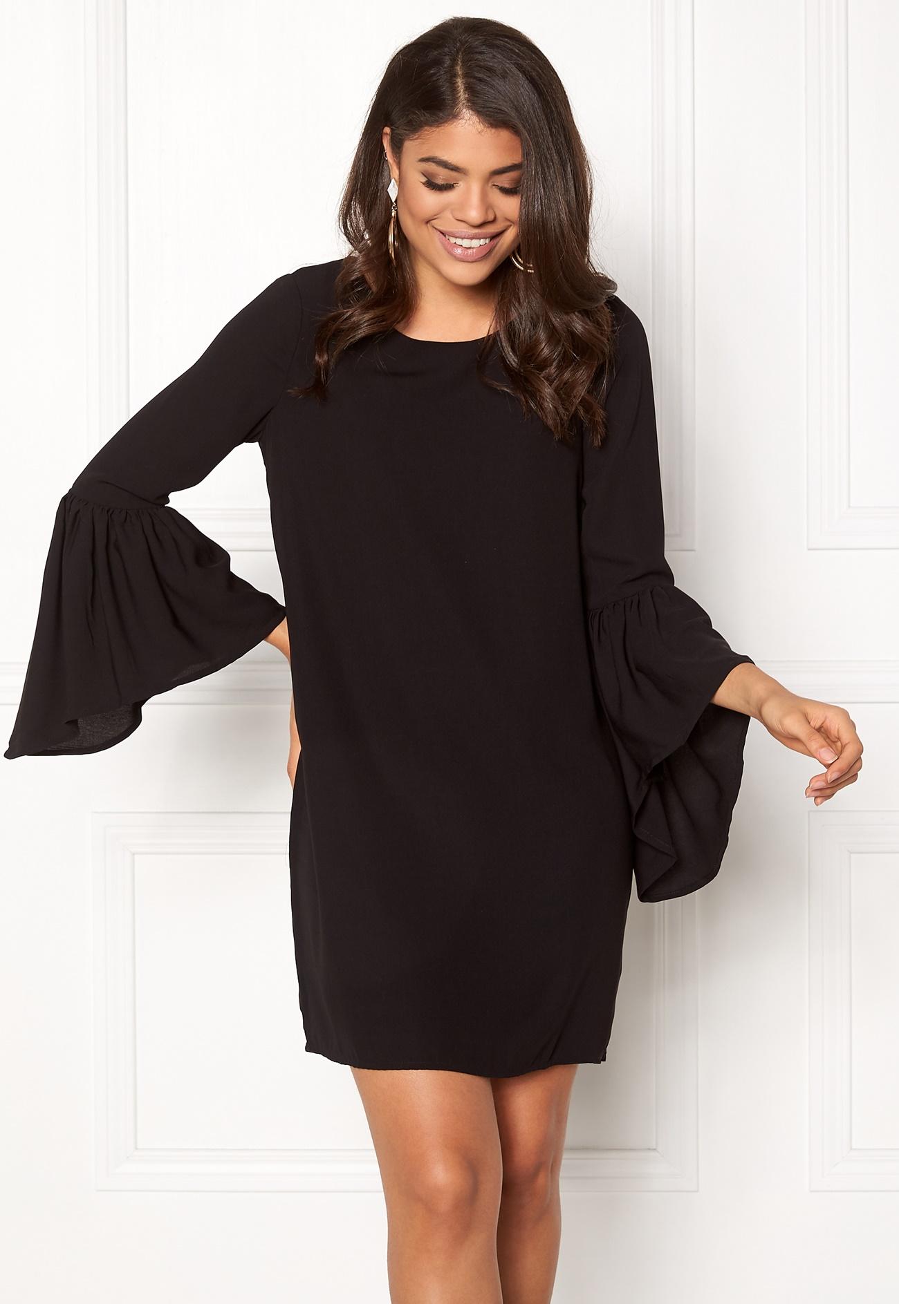 vero moda perfect 3 4 short dress black bubbleroom. Black Bedroom Furniture Sets. Home Design Ideas
