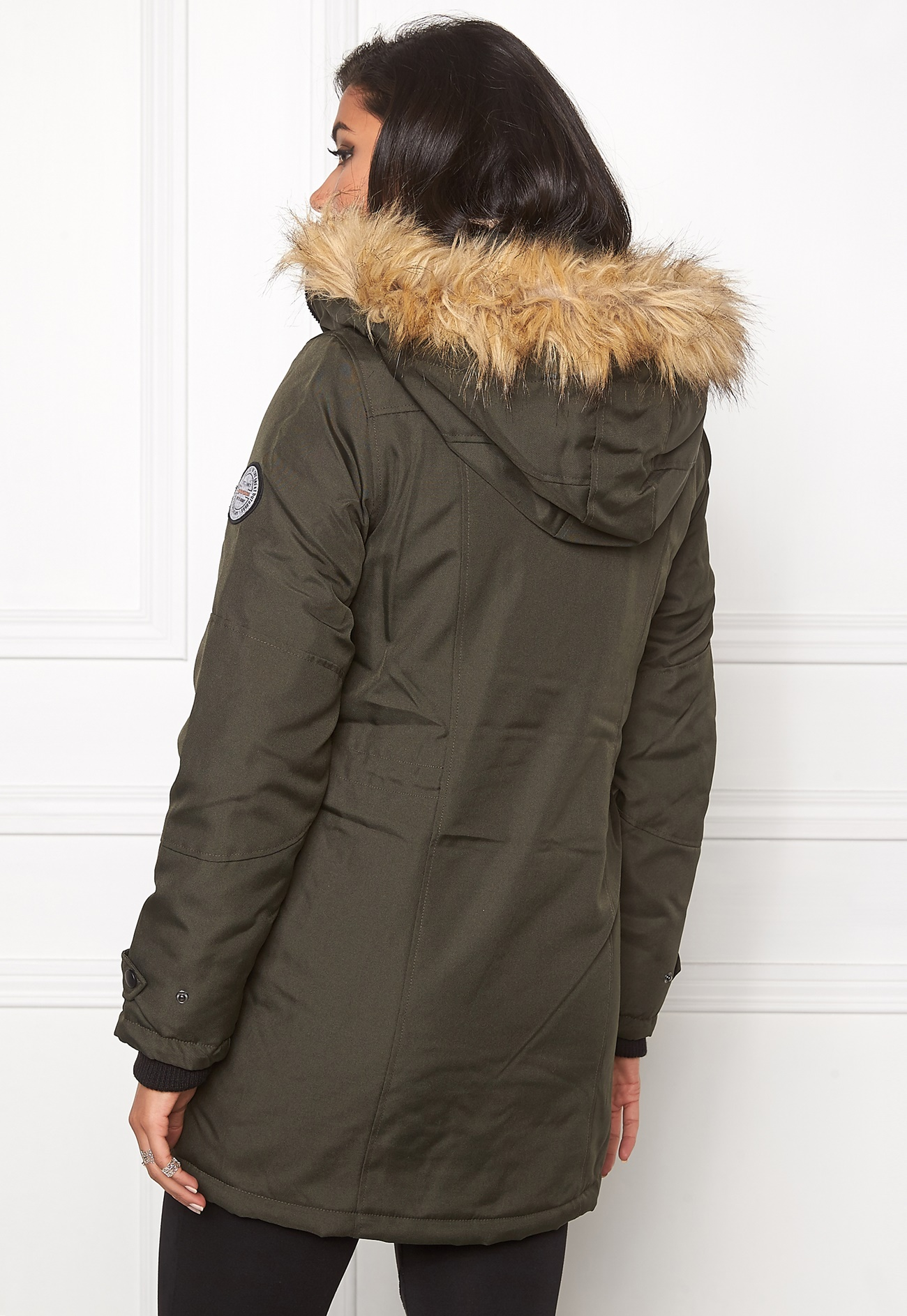 vero moda polar arctic 3 4 parka peat bubbleroom. Black Bedroom Furniture Sets. Home Design Ideas
