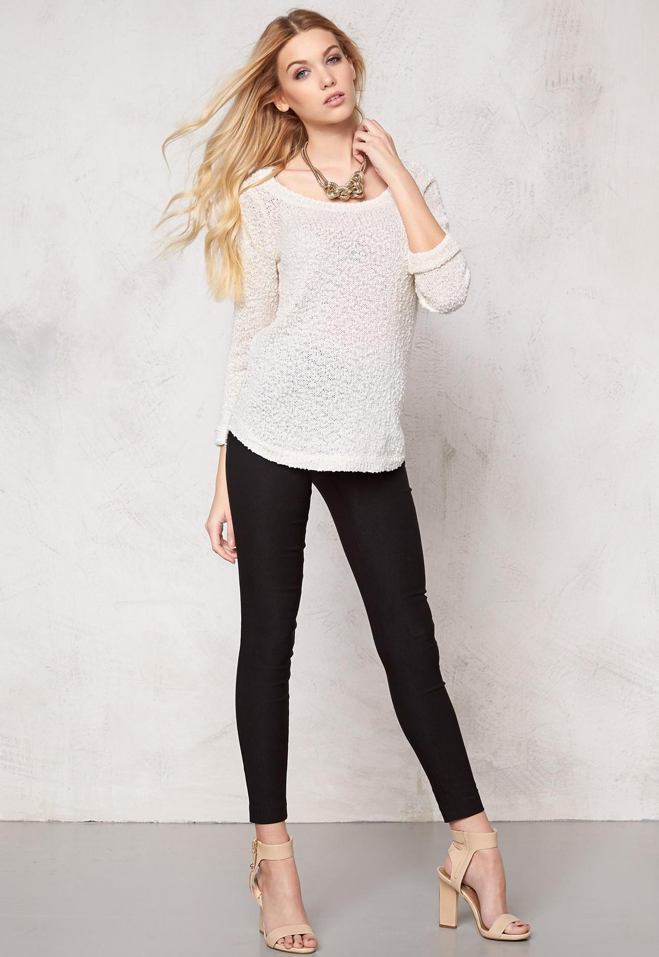 vero moda snow knit blouse snow white bubbleroom. Black Bedroom Furniture Sets. Home Design Ideas