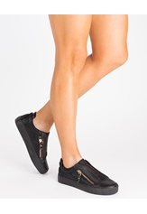 Glossy Sneakers, Binny Svart Bubbleroom.no