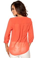 Mexx Blouse 621-Hot Coral