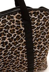 Pieces Leona Net Print Bag Cognac
