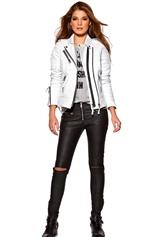Boda Skins Kay Michael Biker Jacket White