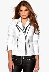 Boda Skins Kay Michael Biker Jacket White Bubbleroom.se