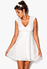 Chiara Forthi Goddess Dress Pearl white Bubbleroom.se