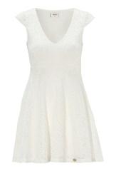 Chiara Forthi Goddess Dress Pearl white