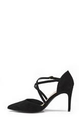 New Look Rexed Strap Point heel Black
