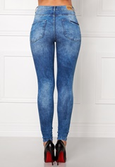 Blue worn