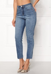 77thFLEA Felice high waist jeans Medium blue Bubbleroom.se