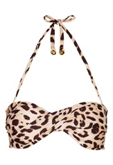 Chiara Forthi Resort Twisted Bandeau Leo Print