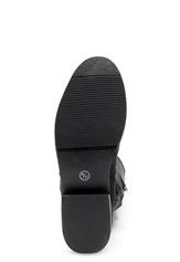 AX Paris Faux Suede High Boots Black