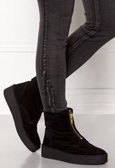 Billi Bi Black Suede/Gold Boots Black Bubbleroom.no