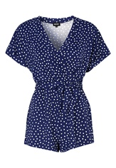 BUBBLEROOM Piper playsuit Dark blue / White / Dotted