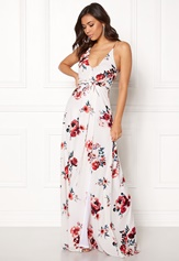 BUBBLEROOM Rosemary maxi dress White / Patterned / Floral Bubbleroom.no