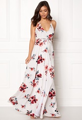 BUBBLEROOM Rosemary maxi dress White / Patterned / Floral