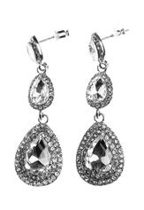 BUBBLEROOM Tripoli crystal earring Silver Bubbleroom.dk