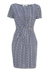 Chiara Forthi Amy Dress White / Blue