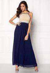 Chiara Forthi Dalilah Embellished Dress Beige / Blue Bubbleroom.fi