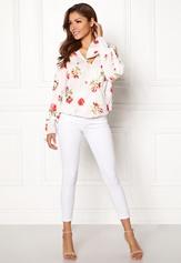 Chiara Forthi Guilia Wrap Top White / Floral