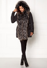 Chiara Forthi Igloo Fur Puffa Black