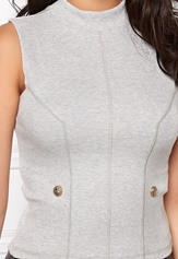 Chiara Forthi Intrend Buttoned Top Grey