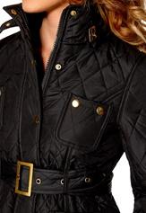 Chiara Forthi Kelsey Quilted Jacket Black