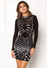 Chiara Forthi Lavinia Sequin Dress Black / Silver Bubbleroom.dk