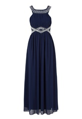 Chiara Forthi Matia Embellished Dress Dark blue / Silver