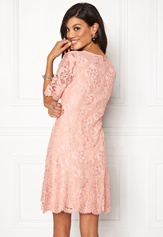 Chiara Forthi Michelle Lace Dress Old rose