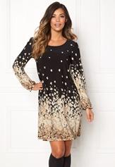 Chiara Forthi Swing Dress Black / Floral Bubbleroom.se