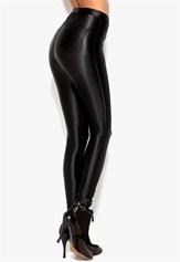 Chiara Forthi Shiny Disco Pants Black Bubbleroom.se