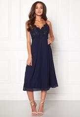 Girl In Mind Elea Plunge Lace Dress Navy